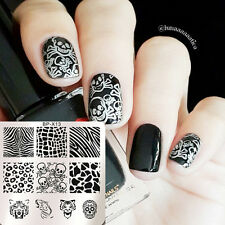 BORN PRETTY 6*6cm Plaque Stamping Pochoir Carré Nail Art Motif Animal BP-X13