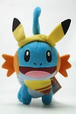 Pokemon Center Original Pikachu Carnival Festival Mudkip Keychain Plush Doll