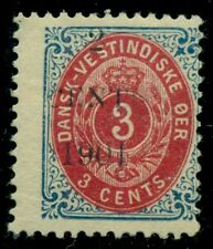 DANISH WEST INDIES #24bv (24v4) 2CENTS 1901 SMALL DIGITS Ovpt, LH, Facit $1,150