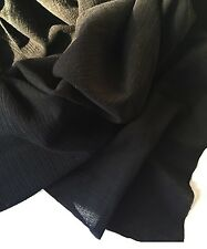 Black Muslin Swaddling Blanket - XL 48 X 48 inch - Light & Airy Fabric
