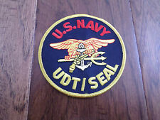 "U.S.MILITARY NAVY UDT/ SEAL TRIDENT PATCH 4"" X 4"" SEAL TEAM"