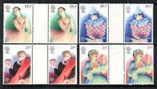 GB MNH 1982 SG1183-1186 EUROPA: BRITISH THEATRE SET OF 4 GUTTER PAIRS