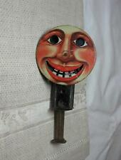 Antique Tin Litho Toy Spinning Grinning Sparkler Germany 1920s Halloween Pumpkin