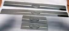 FORD MONDEO III 00-07 SET DOOR SILL COVER COVERING TRIM MOLDING METAL SILVER