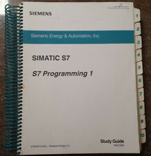 Siemens Simatic S7 Programing 1 Study Guide, MID10562 *Free shipping*