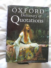 OXFORD Dictionary Of Quotations.2004.Hardback with DJ.