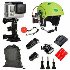 Adjustment Curved Adhesive Helmet Gear Side Mount Pack for GoPro Hero 2 3 3+ 4