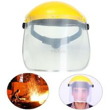Adjustable Clear Face Mask Shield Visor Safety Workwear Eye Protection Helmet