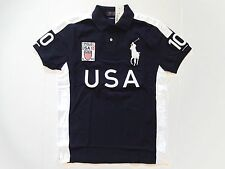 New Ralph Lauren Polo Custom Fit Big Pony Navy 100% Cotton USA Shirt size L