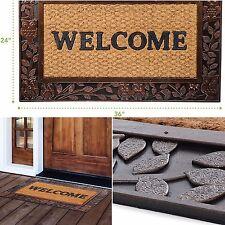 Welcome Mat Entrance Front Door Doormat Outdoor Indoor Owl Rust Colored 24 x 36
