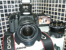Canon EOS 600D / Rebel 18.0 MP Digital SLR Camera - THREE LENSES / EF-S IS...