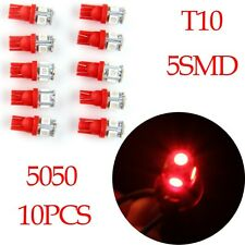 10x Red T10 5SMD 5050# Car License Plate Map Interior LED Light Roof Canbus Bulb
