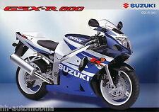 Suzuki GSX-R 600 Prospekt 12/01 brochure Broschüre Motorrad Asien Japan 2001