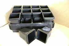 COMBO DEAL  3  X  PLASTIC CARRY TRAYS FOR 9CM SQUARE PLANT POTS+ 36 POTS