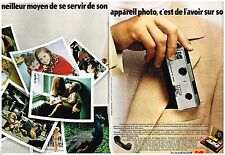 Publicité Advertising 1972 (2 pages) Appareil photo Kodak Pocket Instamatic