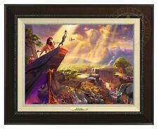Thomas Kinkade -Disney's Lion King– Canvas Classic (Espresso Frame)