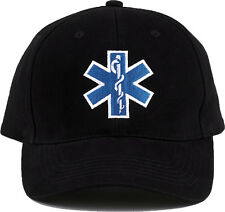 Black Public Safety EMS/EMT Logo Adjustable Cap