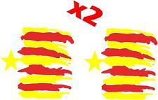 (1022) 2 x BANDERA CATLUÑA CATALANA CATALUNYA VINILO ADHESIVO PEGATINA STICKER