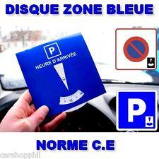 Disque de stationnement temporaire Zone Bleue Disque Horaire - PIECE DE QUALITE