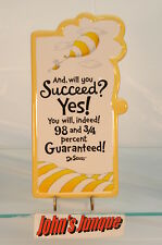 DR SEUSS HALLMARK PLAQUE~AND WILL YOU SUCCEED?~RESIN~NEW~FREE SHIPPING IN US~