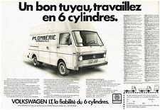 Publicité Advertising 1983 (2 pages ) Camionette Fourgon VW Volkswagen LT