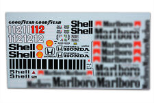 1/12 Mclaren Honda Mp4/4 Tamiya Ayrton Senna F1 Model waterslide decal sticker