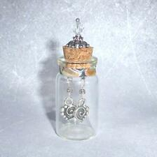 925 Sterling Silver Heart Drop Earrings in Display Bottle Valentine Gift for Her