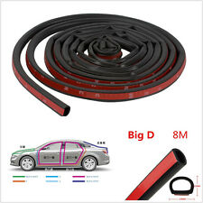 8m High Quality Big D-Shape Autos Door Trim Rubber Weatherstrip Edge Seal Strip