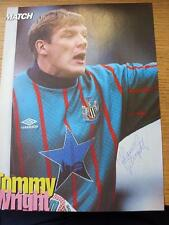 1970's-90's Autographed Magazine Picture: Newcastle United - Wright, Tommy