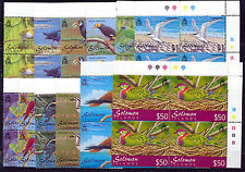 SOLOMON ISLANDS 2001 BIRDS DEFINITIVES SG976/987 PLATE BLOCKS OF 4 MNH