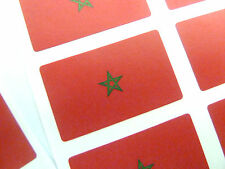 Mini Sticker Pack, Self-Adhesive Morocco Flag Labels, FR186