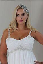 Custom Plus Maternity Chiffon Bridal Gown Wedding Dress Size 14-16-18-20-22++
