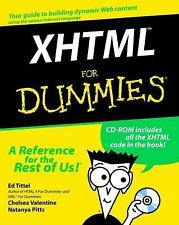 XHTML For Dummies, Pitts, Natanya, Valentine, Chelsea, Tittel, Ed, Good Book