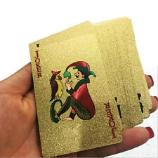 Golden color playing cards,gold color poker,deck of 54 cards,5.7 x 8.8CM