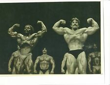 Mike Mentzer Robby Robinson Bodybuilding Muscle Photo B&W