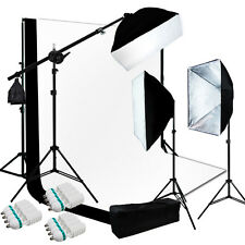 10 x 13 ft BW Backdrop Support Stand Photography Studio Video Softbox Light 3Kit
