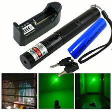 Powerful 532nm Military Green Laser Pointer Power Pen 18650 Battery Charger