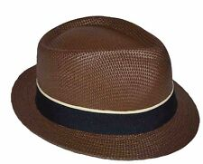 Brown Basic Demanded Straw Fedora Hat Youth Size Cap-8~20-57cm