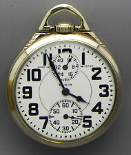 WHAT A BUY!! A 16 Size; 23 Jewel; Elgin B.W. Raymond Wind Indicator RR Grade PW!