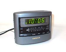 AIWA CUBE Digital Clock Radio-AM/FM-Snooze-Battery Backup Model FR-A45U-NICE
