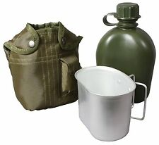 Rothco OD 3-Piece Canteen Kit With Cover & Aluminum Cup - Camping/Survival