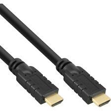 InLine HDMI High Speed Kabel, Stecker / Stecker, mit Ethernet, schwarz  gold, 3m