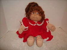 CABBAGE PATCH KIDS 2 bottom teeth 1982 VINTAGE Reddish Brown Hari Brown Eyes