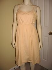 Cutter & Buck Women's Yellow / White Striped, Ruffle Waist Sundress Size M/M