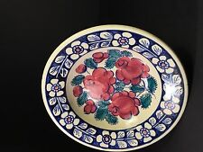 Fajans Hand-painted Floral Polish Pottery Bowl (759C)