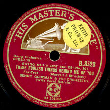 Benny Goodman & ORCH. these Foolish Things reminds me of you/sometimes... x3330
