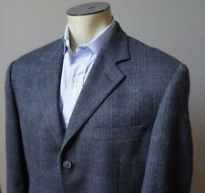 (Sz 40 R) BROOKS BROTHERS Gray Herringbone Double Vent Blazer Lambswool
