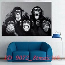 Hand-painted Oil Painting Pop Art Gorilla Monkey Wall Home Decor/ Unframed