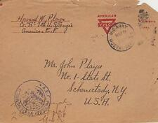 WORLD WAR I WWI MILITARY SOLDIER YMCA COVER W/CENSOR STAMP A.E.F. #8
