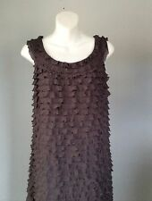 Suzi Chin Maggy Boutique Women's Cocktail Dress Tiered Layers Sz 16W Gray